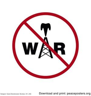 No oil war Daniel Zemalkowski http://www.peaceposters.org/