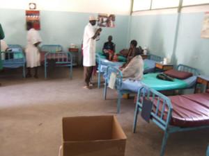 Interno del reparto di pediatria dell'ospedale di Mapuordit