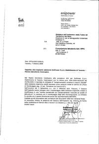 Ecco la lettera dell'ENI che non ci piace. La pubblichiamo per dire nuovamente: NO!