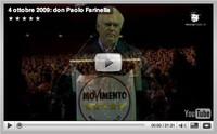 Don Paolo Farinella alla presentazione del Movimento 5 stelle