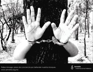 la campagna di Manesty International in difesa di Felipe Arreaga