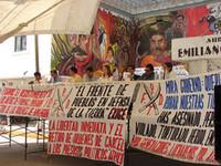 Conferenza stampa dell'associazione Fronte del popolo in difesa della terra © Centro de Derechos Humanos Agustin Pro Juarez