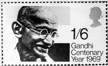 Francobollo emesso in occasione del centenario di Gandhi