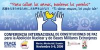 CONFERENZA INTERNAZIONALE sulle COSTITUZIONI DI PACE per L'ABOLIZIONE del NUCLEARE e DELLE BASI MILITARI STRANIERE