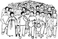 popolo con flautista