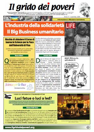 Il grido dei poveri, mensile di riflessione nonviolenta (novembre 2009)