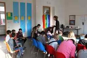 Visita di una classe alla mostra interattiva H2OK a Rovereto dal 23 nov al 4 dic '09