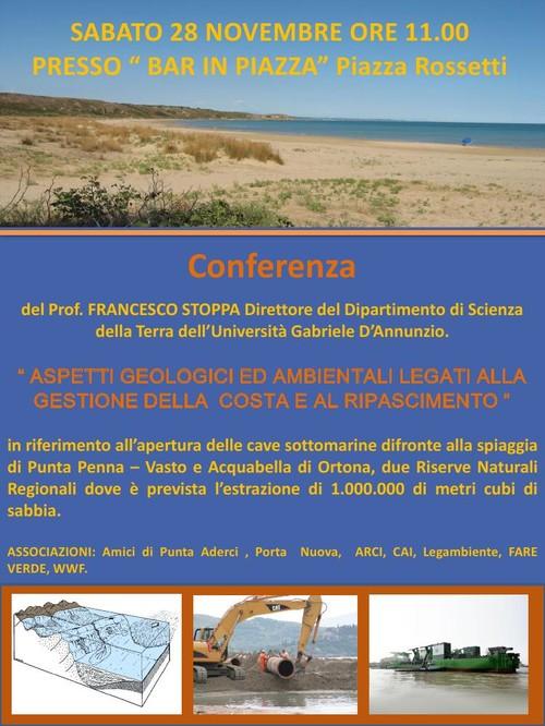 conferenza sul ripascimento della costa