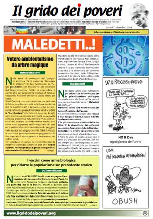 Il grido dei poveri, mensile di informazione nonviolenta (dicembre 2009)