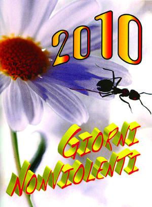 La copertina dell'agenda GIORNI NONVIOLENTI
