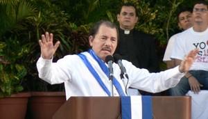 Daniel Ortega durante l'inaugurazione del quarto anno di governo © (Foto G. Trucchi)