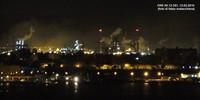 Foto e nubi notturne dall'Ilva di Taranto