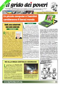 IL GRIDO DEI POVERI (mensile di informazione e riflessione nonviolenta) febbraio 2010