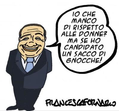Vignetta su Berlusconi