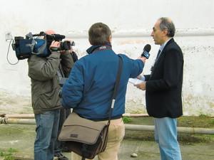 Alessandro Marescotti intervistato da Rai 3 presso La masseria contaminata a Taranto per la diossina