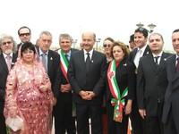 La delegazione italiana a Halabja