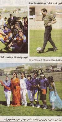 Altre foto degli italiani sul campo di calcio