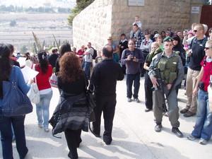 Un momento della processione delle Palme a Gerusalemme