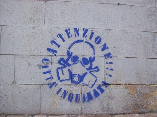 Il logo per cui i sette writer sono stati fermati e denunciati a Taranto