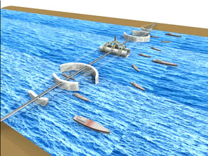 Un fotogramma del video dove l'architetto Mor Temor illustra la sua visione di studio sulla progettazione e l'analisi del Ponte dello Stretto di Messina in Italia