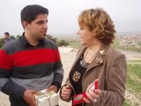 Ali con la presidente della Commissione Pace del Comune di Firenze Susanna Agostini