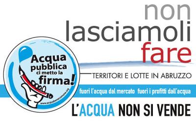 """banner referendario del comitato """"Salva l'Acqua"""" Abruzzo"""