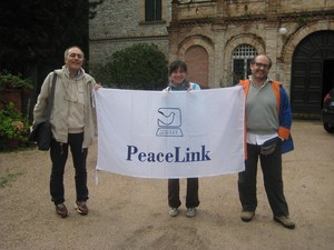Peacelinkers a Villa Pieve: Alessandro Marescotti, Teresa Manuzzi, Mario Feroce