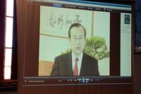 Videomessaggio di Akiba Tadatoshi sindaco di Hiroshima all'incontro in Palazzo Vecchio del 20 maggio 2010