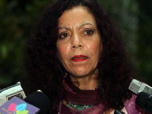 Rosario Murillo annuncia la misura del governo sandinista (Foto CCC)
