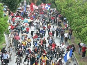 Manifestazione a Tegucigalpa (Foto G. Trucchi)