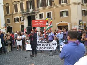 """Montecitorio 29 luglio 2010. Il giornalista Della Volpe di """"Articolo 21"""" ricorda i gravissimi tagli alla cultura"""