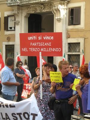 Montecitorio 29 luglio 2010. Partigiani del terzo millennio