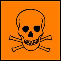 Il rischio chimico del benzo(a)pirene è ufficialmente contraddistinto da questo simbolo ufficiale