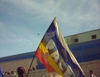 La bandiera antinucleare della pace