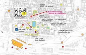 mappa Lucca Comics 2010