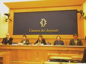Alessandro Marescotti (presidente di PeaceLink), Gianluidi De Gennaro (chimico, Univ. Bari), Lidia Giannotti (PeaceLink, responsabile settore giuridico), Annamaria Moschetti (pediatra, ACP), Angelo Bonelli (presidente dei Verdi)