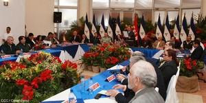 Poteri dello Stato nicaraguense riuniti a Managua (Foto CCC)