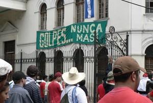 Mobilitazione contro il golpe a Tegucigalpa (agosto 2009) © (Foto G. Trucchi)