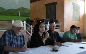 Conferenza stampa a Tocoa, dipartimento di Colón (Foto G. Trucchi)