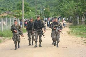 Militarizzazione della Guadalupe Carney (Foto Orbin Adalid Felipe Rojas)