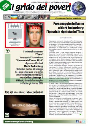 Il GRIDO DEI POVERI (mensile di informazione e riflessione nonviolenta) nov-dic 2010.