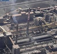 Una veduta aerea dell'acciaieria