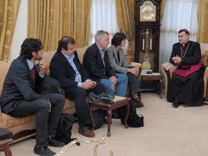 Con l'Arcivescovo di Erbil Bashar Warda