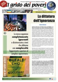 IL GRIDO DEI POVERI (mensile di informazione e riflessione nonviolenta) gennaio 2011
