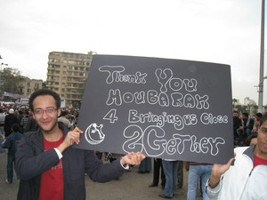 "Egypt: ""Thank you Moubarak for bringing us close together"""