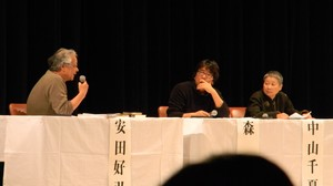 da destra Chinatsu Nakayama, Tatsuya Mori e l'avv. Yasuda