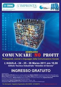 Locandina seminario Comunicare No Profit
