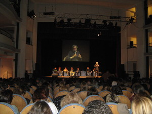 Roma 21 marzo 2011. Gino Strada al teatro Ambra Jovinelli