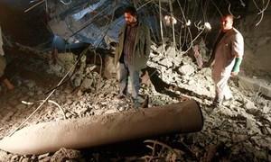 bombardamento in cui è rimasto ucciso un figlio di Gheddafi e tre nipoti