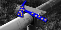 """""""Sie bleiben in Europa"""" stand auf den Bannern der Aktivisten. – Archiv der FES"""